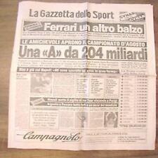 Gazzetta dello sport 26 7 1982 campionati calcio agosto