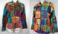 HANDMADE Hippy Boho Hoodie Patchwork Jacket Razorcut Embroidery Top Festival PJ1