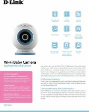 D-Link DCS-825L Night Vision Motion/Sound Detection Wi-Fi Baby Security Camera