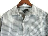 Banana Republic Mens Plaid XL Long Sleeve Button Front Shirt Non Iron Slim Fit