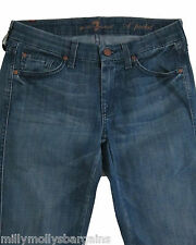 NEU Blau 7 Seven for all mankind Pocket Jeans Taille 29 l34 RRP £ 190 Etikett Fehler