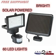 60 LED Flood Light Spot Light Motion Detector Solar Power House Home Garage Shed