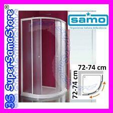 3S BOX DOCCIA SAMO modello CIAO CRISTALLO x PIATTO TONDO QUADRATO da 72 a 74 cm