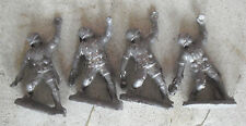 "Lot of 4 Vintage 1940s Lead Toy Soldiers Throwing Grenades 2 1/4"" Tall"