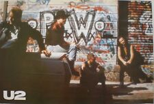 """U2 """"Rattle & Hum"""" Poster From Asia - Group Sitting On A Car & By Graffiti Wall"""