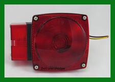 "452 4"" Red Lens STT Light For Trailer Stop Turn  Tail Over 80"" Wide Left Side"
