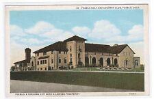 Golf & Country Club Pueblo Colorado postcard