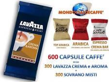 600 CIALDE CAPSULE = 300 LAVAZZA CREMA E AROMA ESPRESSO POINT +300 CAFFE SOVRANO