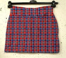 Karierte Mini-Damenröcke aus Baumwollmischung
