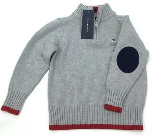 Tommy Hilfiger Little Boy's Kacey Half Zip Sweater Sz 4 Gray It/335