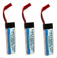 New 3x Lectron Pro 3.7 volt 600mAh 35C BLADE 120S Lipo Battery