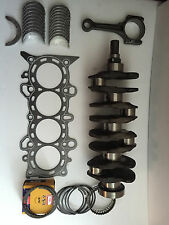 Honda 1.6 D16Y8 Crankshaft with Bearings,Graphite H.Gasket,Rings, With 4 Rods