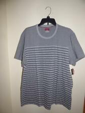 Alfani Red Crew Neck Slim Fit Striped T-shirt Silver XXL