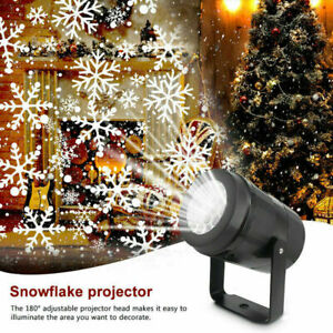 Christmas LED Laser Snowflake Snow Projector Light Garden Outdoor Home Lamp US.