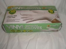 Marksman Powder Free Vinyl Disposable Gloves Size Small - (BOX 99/clear) new