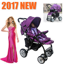 3 IN1 Aluminium Baby Toddler Pram Stroller Buggy Jogger with Bassinet 4 Wheel AU