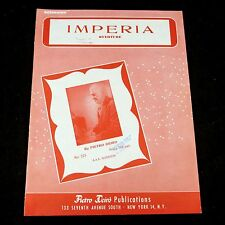 Accordion Sheet Music IMPERIA OVERTURE by Pietro Deiro No. 225 AAA Notation