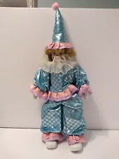 """Porcelain Clown Doll 20"""" Tall"""