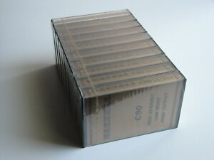 10 x AUDIOKASSETTEN / 10 x CASSETTE TAPES MAXWELL C 90  NEW OLD STOCK