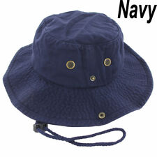 7cd4e2dd6a90b Mens Boonie Bucket Hat Cap Cotton Fishing Hunting Safari Summer Military  Navy