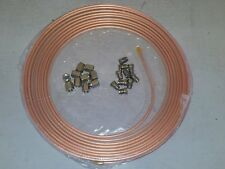 """Copper Brake Pipe Tubing 3/16""""  25FT + 10 Metric M10 Male and 10 M10 Female Nuts"""