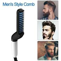 BeardBuddy Beard Straightening Electric Beard Hair Comb Men Curling Brush Styler