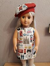 London Icons Dress And Beret For 18  inch doll clothes