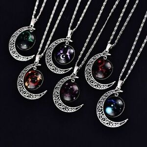 Astrology Moon Zodiac Necklace Jewellery Horoscope Gift Star Sign Constellation