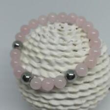 'Rose Lady' Rose Quartz Beaded Bracelet Handmade Jewellery