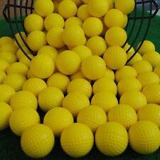 100pcs PU Foam Golf Balls Sponge Elastic Indoor Outdoor Practice Training Yellow