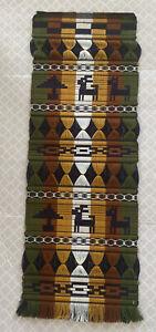 Hand Woven Wall Hanging Tapestry Made in Ecuador Orlon Yarn LLAMAS beautiful!!!