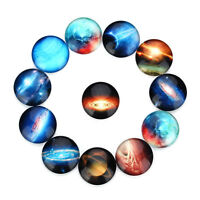 20pcs Round Glass Mixed Galaxies and Stars Cameo Cabochon Flat Back 10mm - 25 mm