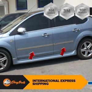 Cromo Porta Laterale Dettaglio 4door ACCIAIO INOX Per 2004-2011 Ford Focus MK2