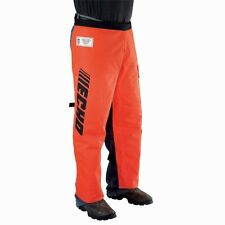 Echo Professional Chain Saw Chaps w/ Large Front Pocket Polyester Orange Pants
