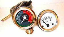 Massey Temperature and Oil Pressure Gauge