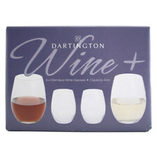 Dartington Crystal Wine+ Red & White Wine Stemless Glasses (4 PACK)