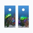 Cornhole Board Wraps Vinyl Decals Mahi Mahi Dolphinfish Ocean Set of 2 -0102RL