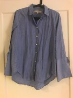 Women's Loft Striped Top, Blue, Size XXS, New w/o Tags