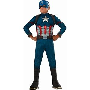 Captain America Muscle Chest Metallic Halloween Costume Child Kid S M L Boy