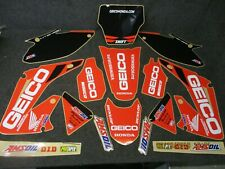 Honda CR125 CR250 2002-2007 Geico Racing Team USA graphics + plastics GR1796