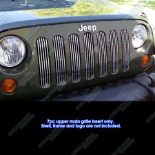 Fits 2007-2018 Jeep Wrangler JK Only Vertical Main Upper Billet Grille Insert