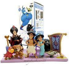 Disney Aladdin 8 pcs Dolls Set BANPRESTO Mega Aladdin Genie Jasmine Kid Toy Gift