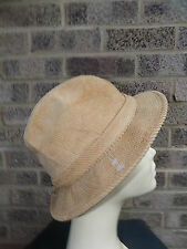 Vintage Newport Cord trilby hat size small cord fedora hat