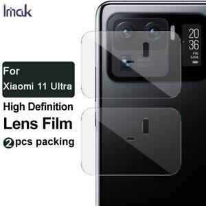 2pcs IMAK Clear Camera Lens Tempered Glass Film For Xiaomi Mi 11 Ultra / Mi 10S