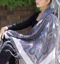 Winter Merino Woolen Shawl Russia Style Huge Scarf Pavlovo Posad 1292-2 Precious