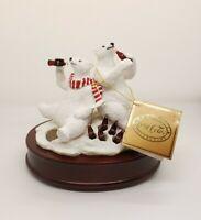 Coca-Cola Polar Bears Christmas Music Box 1994 Heritage Collection Coke •Tested•
