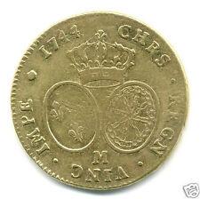 Louis XV (1715-1774) Doppel Gold zur Band 1744 m toulouse 7,239 Stück selten