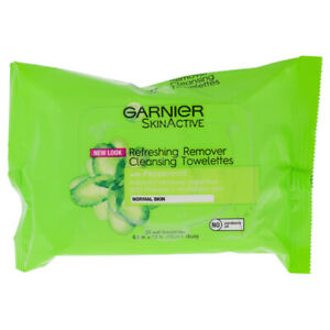 Clean Refreshing Remover Cleansing Towelettes by Garnier for Unisex - 25 Ct.