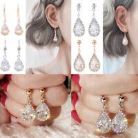 Earrings 925 Silver,Gold,Rose Gold Earring Wedding Drop Fashion Women Jewelry