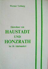 Genealogie Saar Einwohner von Haustadt und Honzrath im 18. Jahrhundert